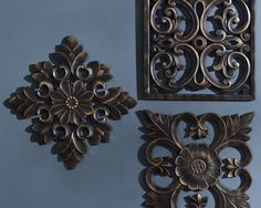 Decorative Wall Plaques embossed scroll plaque | art niche, emboss and dining room walls