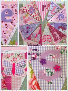 Girls personalised bunting Sewing Tips, Sewing Hacks, Sewing Ideas, Personalised Bunting, Support Small Business, Sewing For Beginners, Invite Your Friends, Small Businesses, Purple