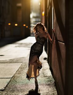 Catching the last of the good rays in an alley in downtown Calgary with Vlada.  Mua: Jenni Macdonald