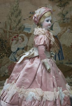 "13"" (33 cm.) Gorgeous Antique Tiny French Fashion doll by Gaultier from respectfulbear on Ruby Lane"