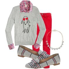 """Planning Ahead for Fall: JCF Intarsia Dog Sweater"" by tarheelmom on Polyvore"