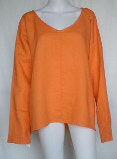 Flax Top Tunic Neutral Whisperer 1g 1x Apricot Medium Weight Linen | eBay