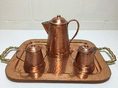 Gregorian-Copperware-Tea-Set-Tray-Hammered-Finish-Made-in-USA