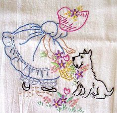 Vintage embroidery - cute!