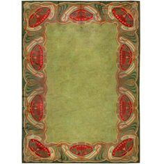 Art Nouveau Irish Donegal Rug / Carpet, Classic Design of Water lily or Jelly Fish (depending upon who you speak to) in Wool, ca. 1910.