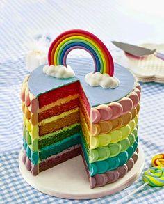 Gambar Kue Ulang Tahun Anak - Pelangi