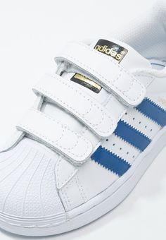 adidas superstar foundation wit blauw