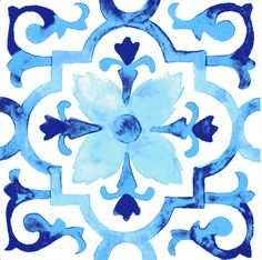 Watercolor Tiles by Gabee Meyer, via Behance