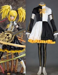 Vocaloid Rin 6-piece Cosplay Costumes