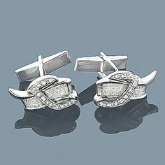 Custom 14k diamond cufflinks