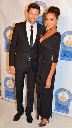 Former Miss USA Crystle Stewart and her husband model Max Sebrechts.