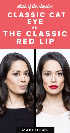 The classic red lip. The classic cat eye. We LOVE makeup looks that stand the test of time. The best beauty trends tend to always work and look stellar, but we'll show you how to do both gorgeous looks and we want you to decide which look you love the most!