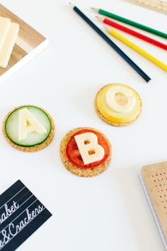 The TomKat Studio | Blog: Back to School Party: Alphabet Cheese & Crackers!
