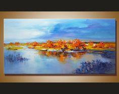 Paisaje pintura pintura al óleo paisaje gran arte abstracto