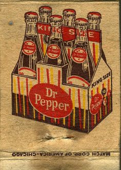Dr Pepper #matchbook Cover To Design and Order Your Branded #matches GoTo GetMatches.com or Call 800.605.7331 today!