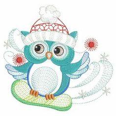 Christmas Owl 06(Lg) machine embroidery designs