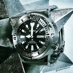 Show off your Seiko 5 - Page 97 Dream Watches, Old Watches, Seiko Watches, Watches For Men, Seiko Monster, Affordable Watches, Hand Watch, Perfect Timing, Mans World