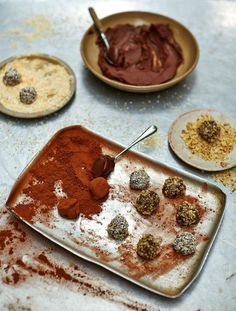 Dairy-free chocolate truffles  Truffles are perfect for dinner parties – make them beforehand, then pop them in the fridge until you're ready to serve