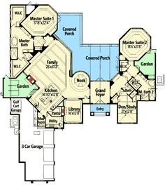 Luxury Master Bedroom Suite Floor Plans plan 58566sv: dual master suites | mountain vacations, lofts and