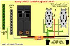 wiring diagram 20 amp 240 volt circuit pinteres rh pinterest com house wiring 20 amp 20 amp wiring cost