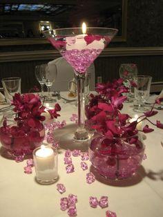 54 best martini centerpiece images centerpieces centrepieces rh pinterest com martini glass vases wedding centerpieces Large Wine Glasses for Centerpieces