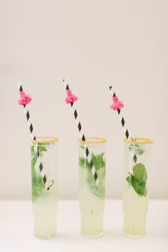 Champagne mojitos: http://www.stylemepretty.com/2014/07/08/15-ways-to-serve-up-bubbly/