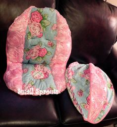 Custom 3D Rosette Light Pink With Rose Divine by smallsproutsbaby, $165.00