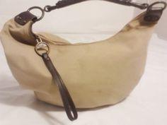 Gap Canvas Hobo Purse Shoulder Bag Handbag in Beige