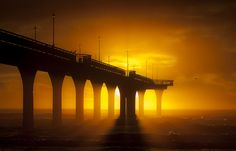 Stunning sunrise at New Brighton Pier, Christchurch, New Zealand by John Stewart Fresh Beginnings, John Stewart, New Brighton, Shutter Speed, Kiwi, New Zealand, Sunrise, World, Water