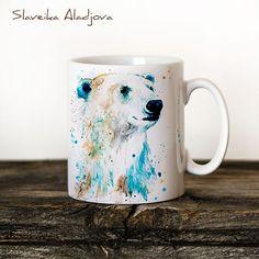 Taza taza acuarela cerámica taza oso único regalo café por SlaviART