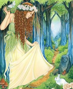 Ostara - Goddess of the Spring. Who is the artist??    OSTARA'S MAIDEN by Michele Lee Phelan