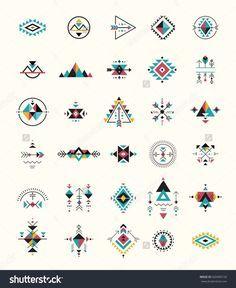 Esoteric Alchemy Boho Bohemian Sacred Geometry Tribal And Aztec Sacred Geometry Mystic Shapes Symbols StockVektorgrafik Illustration 420496150 Shutterstock Simbolos Tattoo, Body Art Tattoos, Temp Tattoo, Shape Tattoo, Tattoo Drawings, Art Drawings, Trendy Tattoos, Small Tattoos, Boho Tattoos