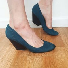 f3bb00099424 Camper Teal Suede Wedge Heels Ahh I love these but alas they are a bit too