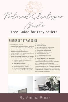 These list of strategies are proven and actionable steps that you can take as an Etsy seller on Pinterest that will improve your marketing efforts.They are the same exact steps that hundreds upon hundred of Pinterest users use to make their blog posts and pins go viral. Business Notes, Etsy Business, Craft Business, Business Ideas, Handmade Jewelry Business, Etsy Seo, Printable Planner, Printables, Pinterest For Business