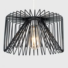 The MiniSun Amadeus Modern Geometric Wire Pendant Ceiling Light Shade is a contemporary pendant shade featuring a plexus of bent wires to bring an ultra-modern aesthetic to contemporary and minimalist interiors. Black Metal Pendant, Drum Pendant, Modern Led Lighting, Ceiling Lights, Light Shades, Ceiling Pendant Lights, Ceiling Light Shades, Suspended Ceiling Lights, Light Fittings