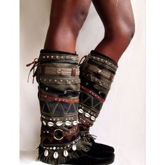 Aunty Entity Tribal Boot cuffs READY to by LotusRootsCreations: