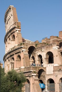 Detail of the Colosseum in Rome.