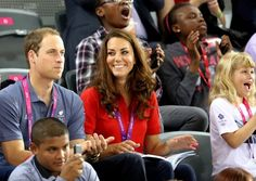 Prince William, Duke of Cambridge, Catherine, Duchess of Cambridge attend the track cycling events with Sophie, Countess of Wessex and Lady Louise Windsor during day one of The 2012 London Summer Paralympic Games.