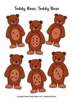 Znalezione obrazy dla zapytania teddy bear crafts for preschool Teddy Bear Crafts, Teddy Bear Day, Counting Bears, Bears Game, Preschool Lessons, Preschool Activities, Bear Theme Preschool, Math Games, Dice Games