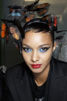 more amazing butterfly headpieces from Jean Paul Gaultier Couture Spring 14