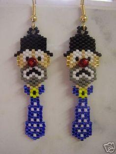 Delica Hobo Clown Earrings