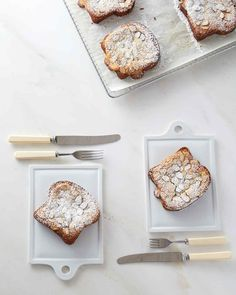 This French pastry is similar to French toast, only it's easier to pull off when feeding a crowd and offers a sweet, crisp surprise with its caramelized frangipane top crust. Martha made this recipe on Martha Bakes episode 605.