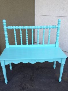Headboard and footboard diy bench revamps pinterest for Cute twin bed frames