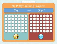 Yoy and Ooops Training Progress Potty Chart Template