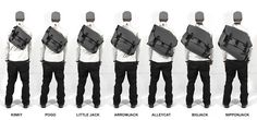 bagjack | technical support bags | handmade in berlin  so many choices for one bag