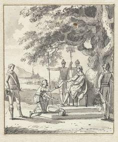 Anonymous | In 't Jaar 923, Anonymous, c. 1789 - c. 1810 | Karel de Eenvoudige verleent Dirk I de titel graaf van Holland, 922.