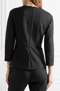 Black stretch-wool Concealed hook and zip fastening at back 97% wool, 3% elastane; lining: 95% acetate, 5% elastane Dry clean Made in Italy