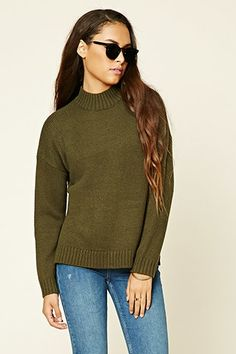 High Neck Sweater Top