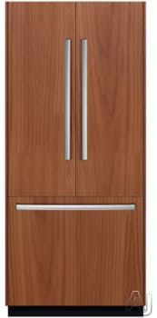 Bosch B36IT8 36 Inch Fully-Integrated French Door Refrigerator with 19.5 cu. ft Capacity, Adjustable Glass Shelves, Gallon Door Bins, Dual Evaporators, Optiflex Hinge, 2 Humidity Controlled Drawers, Deli Drawer, Sabbath Mode, ENERGY STAR and Ice Maker