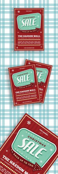 """""""Retro Christmas Sale Flyer"""" is a right choice for every Christmas Sale Events, or anything you want! Comes up with easy to customized and well organized file, it helps you to design your own flyer fasterTHE PACKAGE INCLUDES :PSD files 8.27x11.69 (with bleed) Ai files 8.27x11.69 (with bleed)FEATURES :Layered Ai & PSD file. Customizable and Editab"""